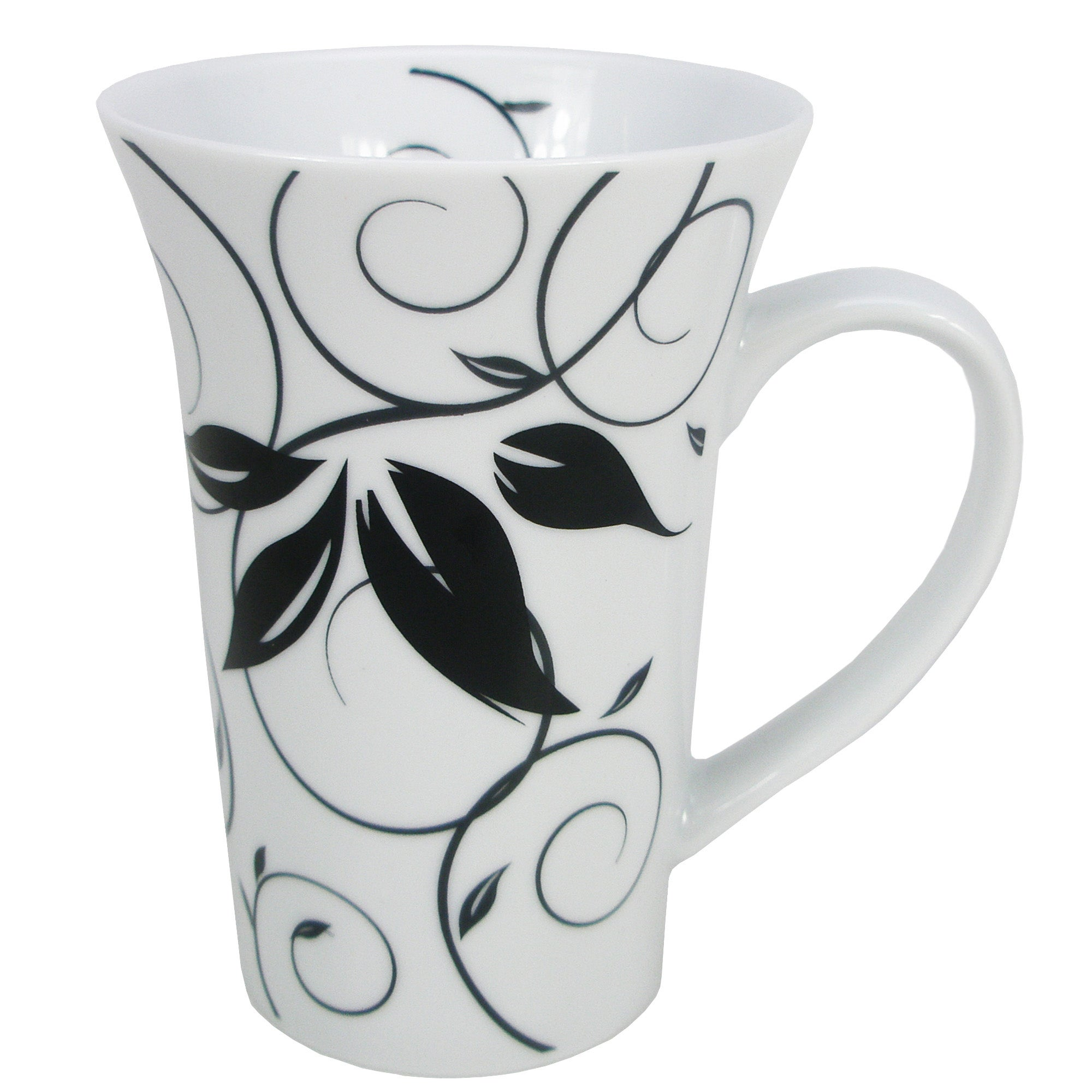 Fleur Collection White Flared Mug