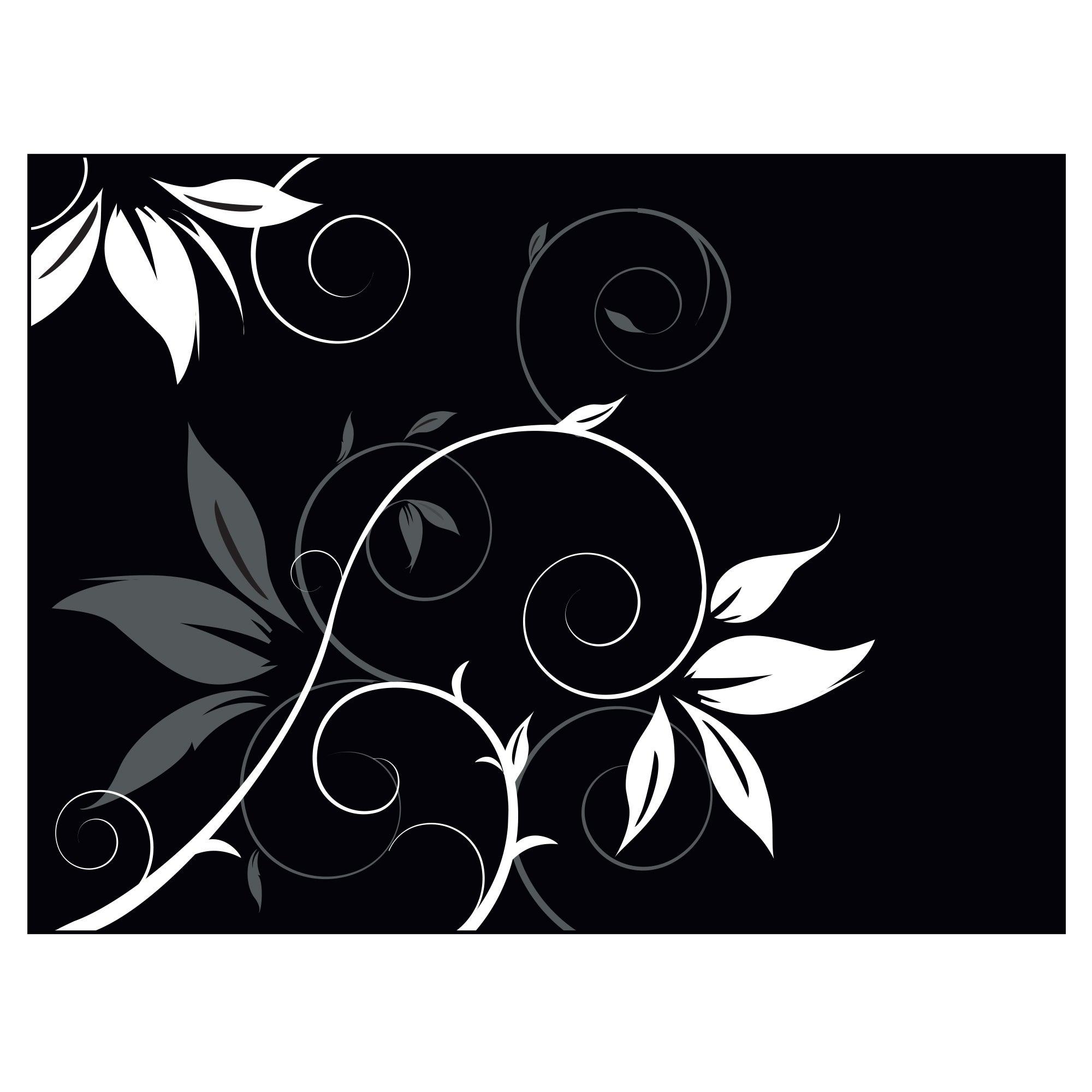Black Fleur Collection Glass Worktop Saver
