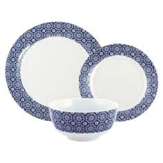 Indigo Bazaar Collection 12 Piece Dinner Set