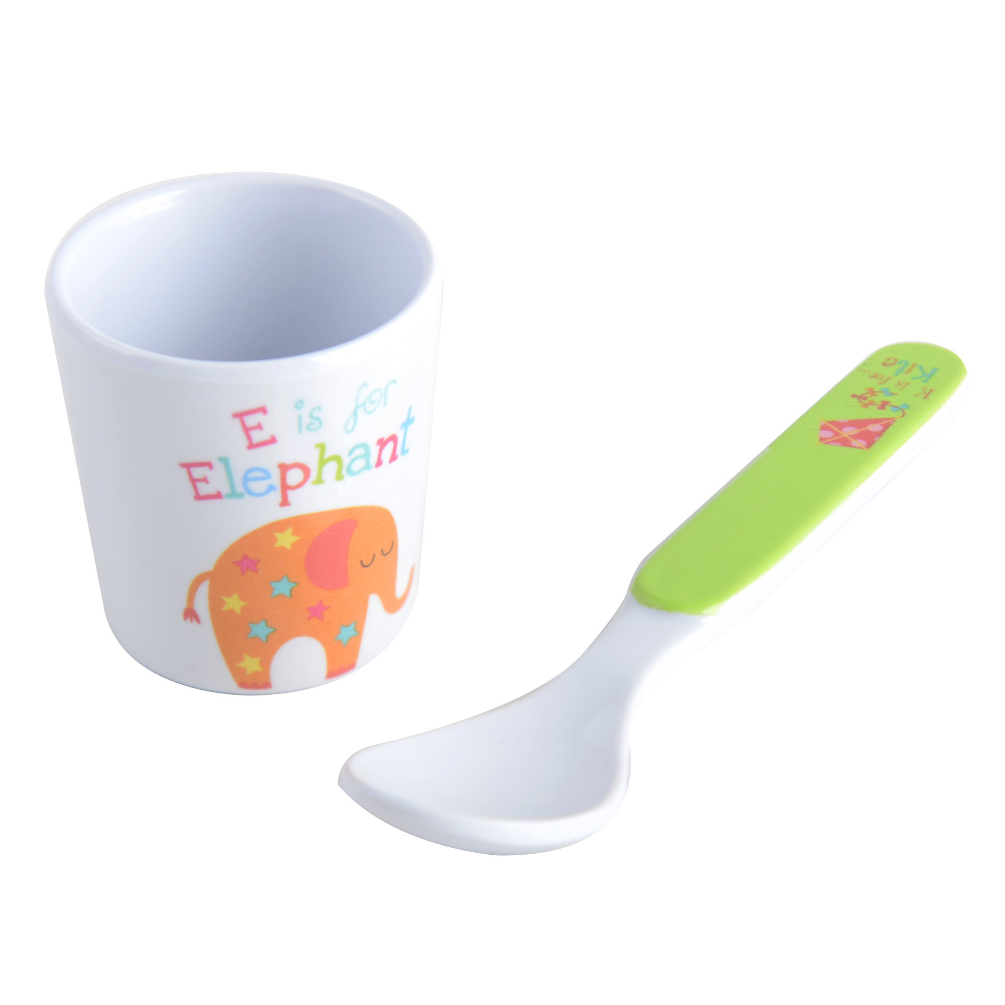 Kids Alphabet Collection Egg Cup & Spoon Set