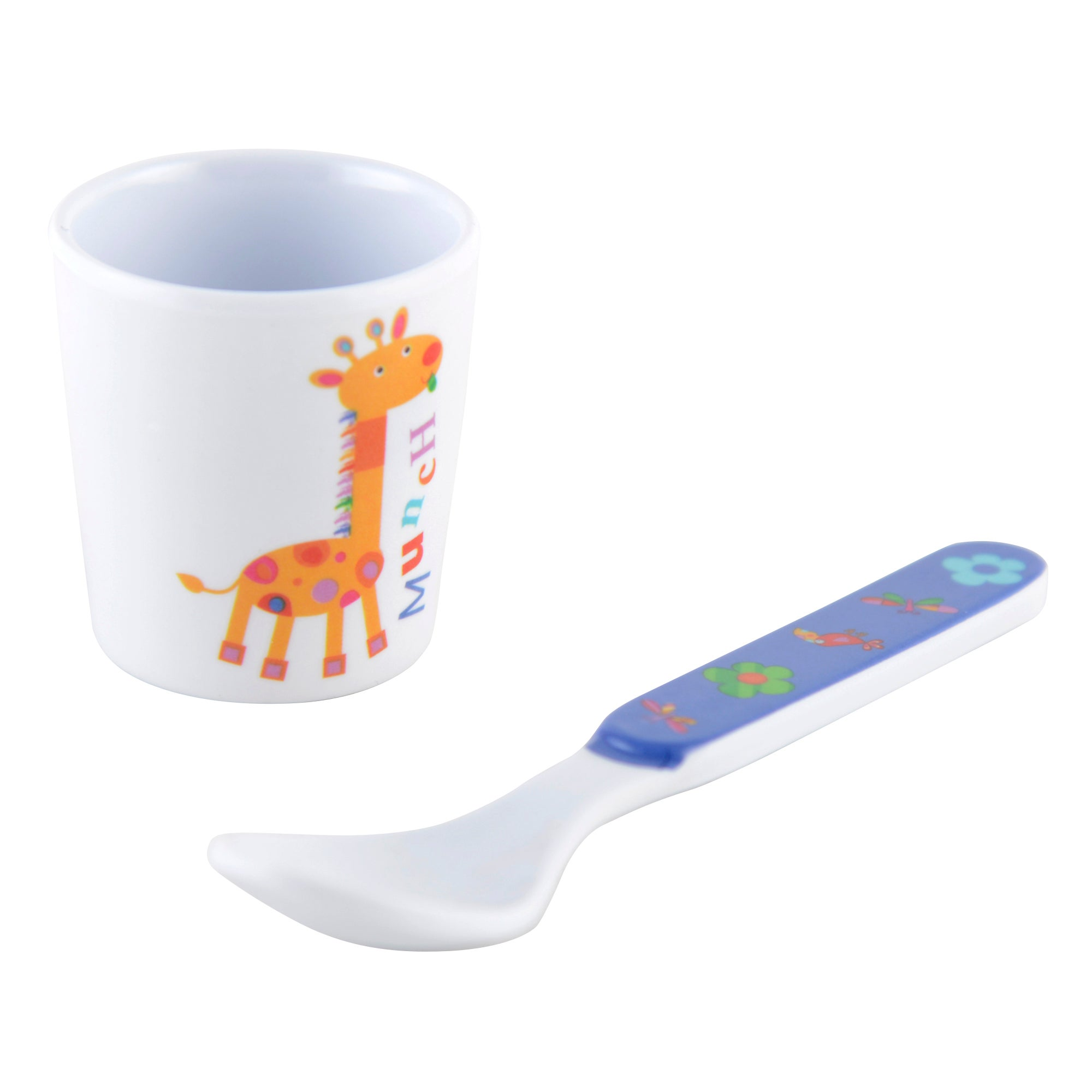 Kids Jungle Collection Egg Cup & Spoon Set