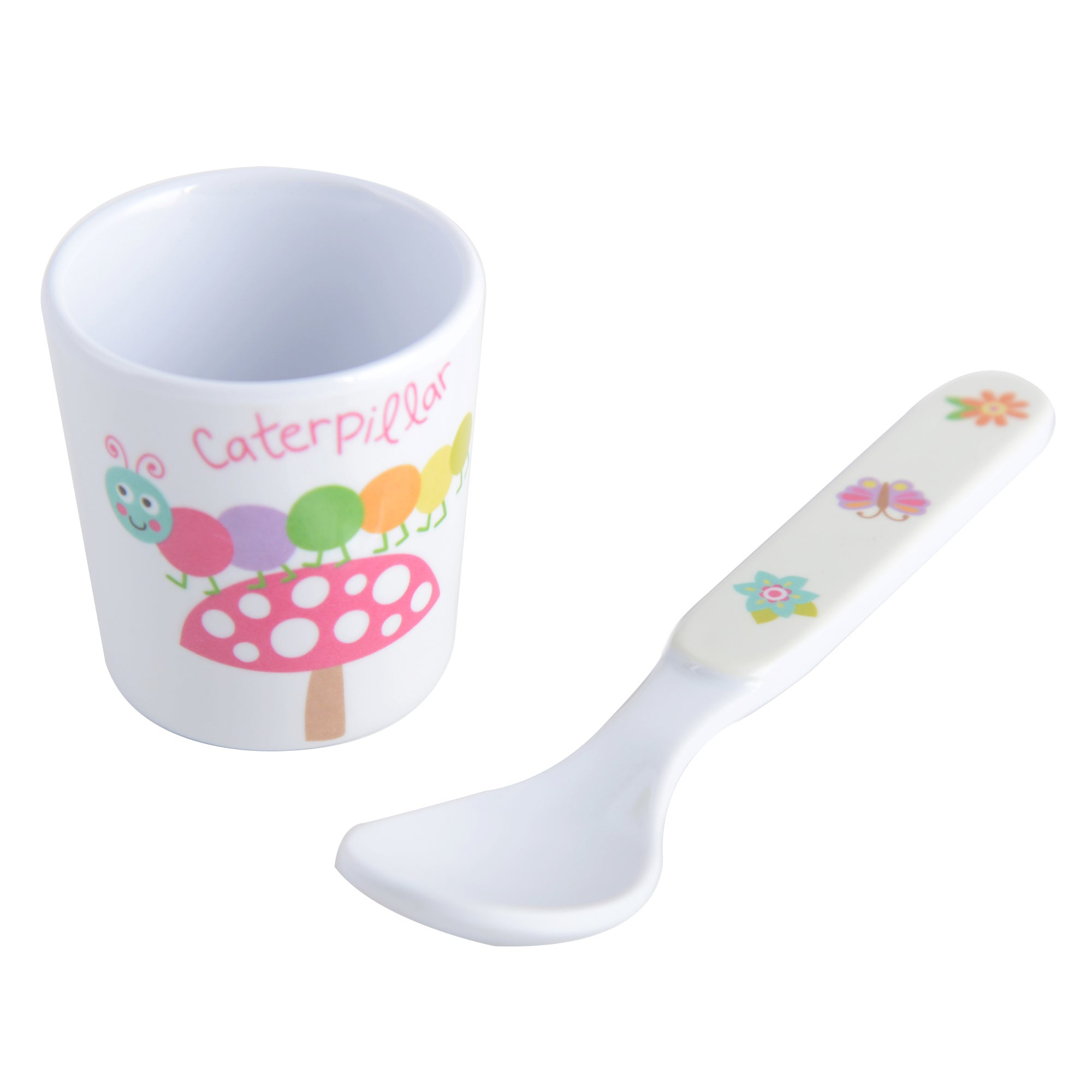 Kids Woodland Collection Egg Cup and Spoon Set