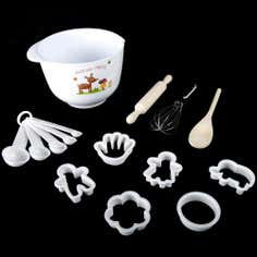 Kids Woodland Collection 6 Piece Baking Set