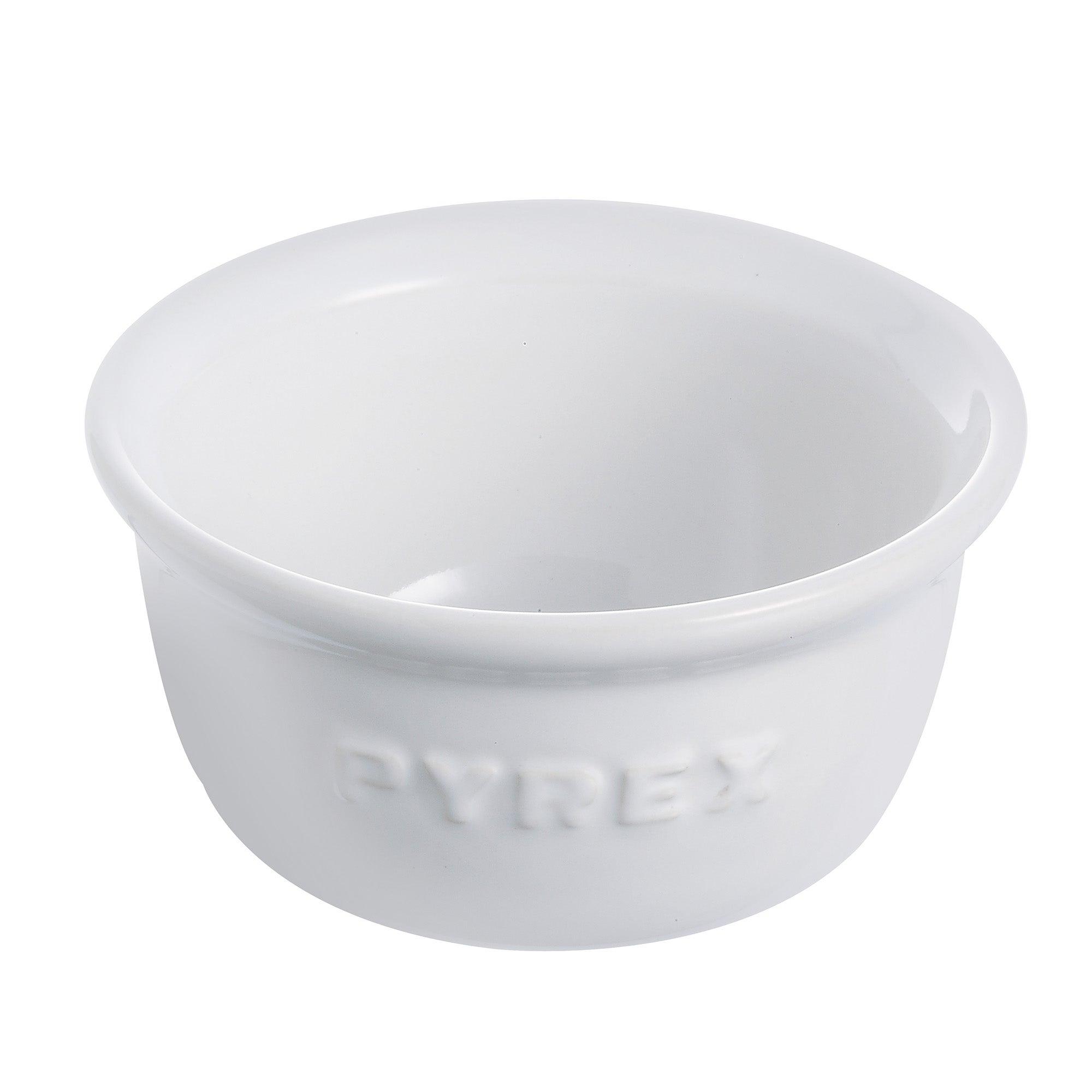 Pyrex Set of 2 White Ramekins