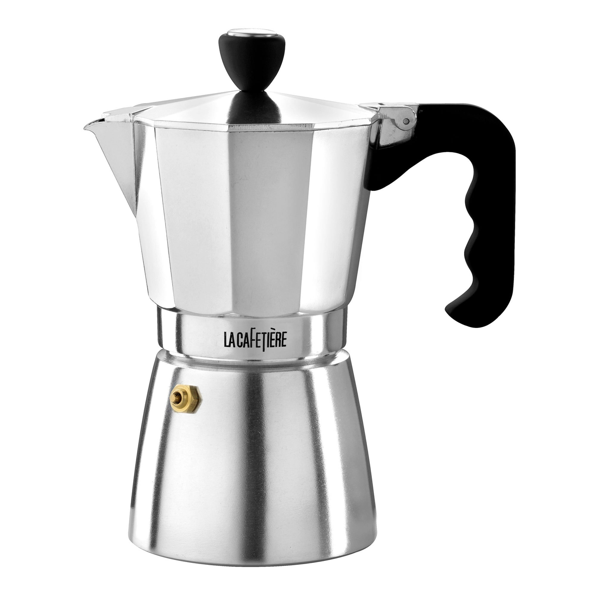 Le Cafetiere Silver 6 Cup Stove Top Coffee Maker