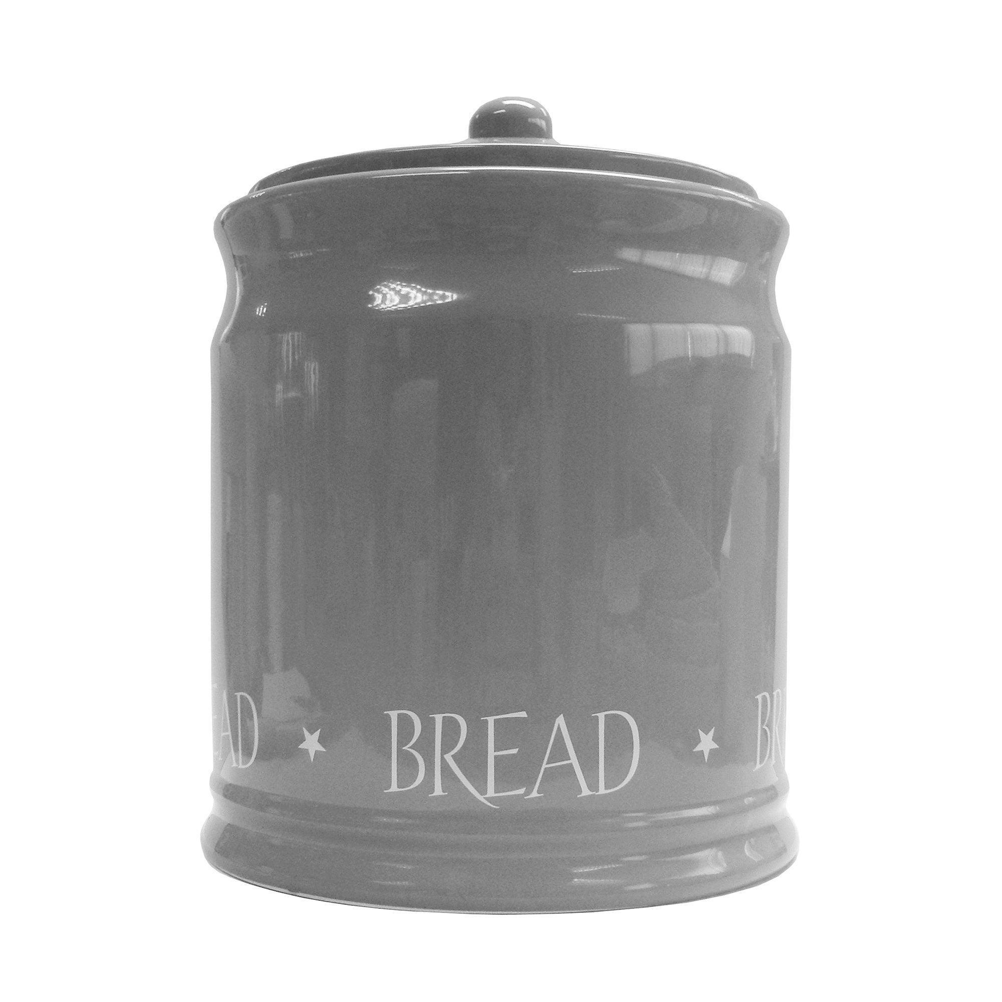 Grey Vintage Text Collection Bread Bin