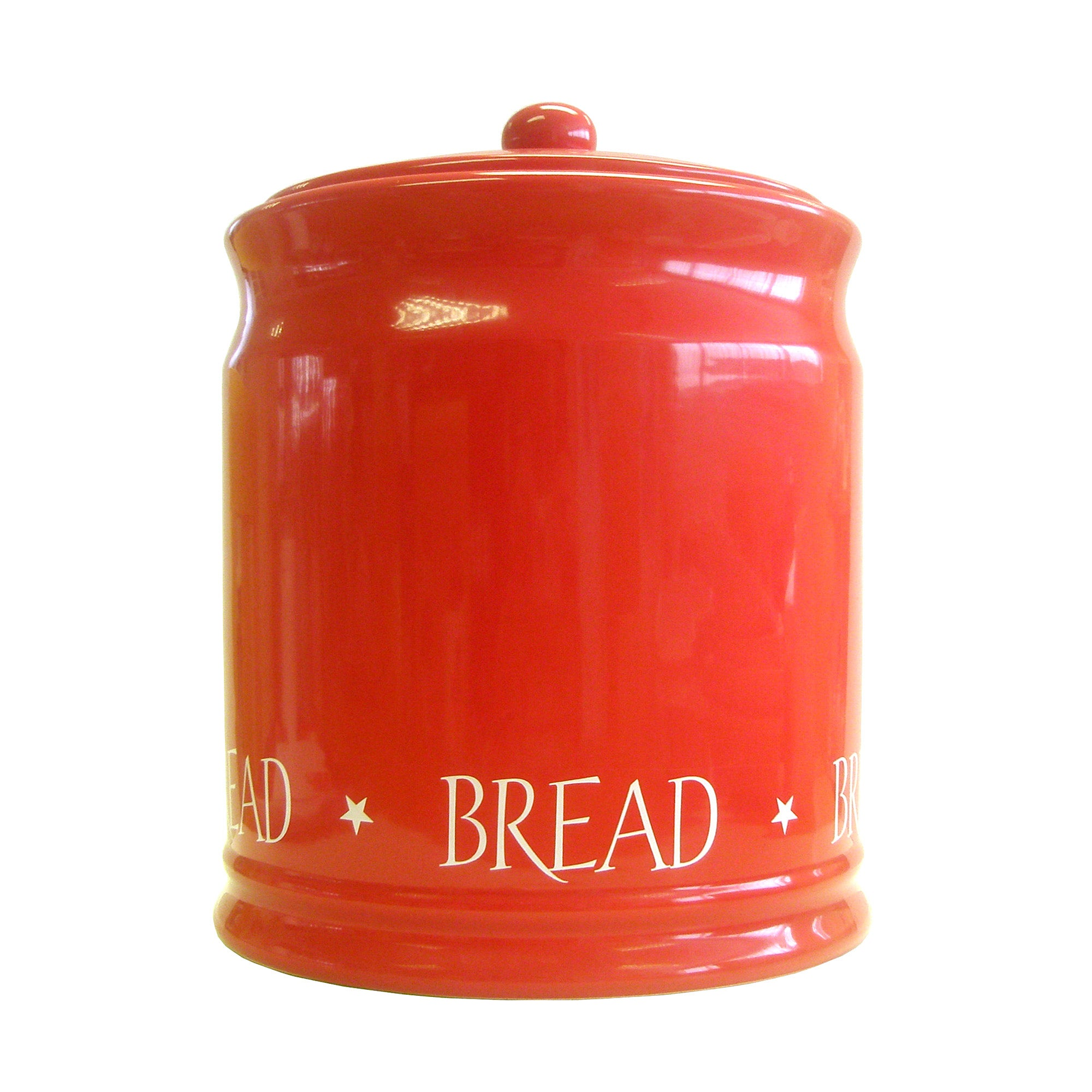 Red Vintage Text Collection Bread Bin
