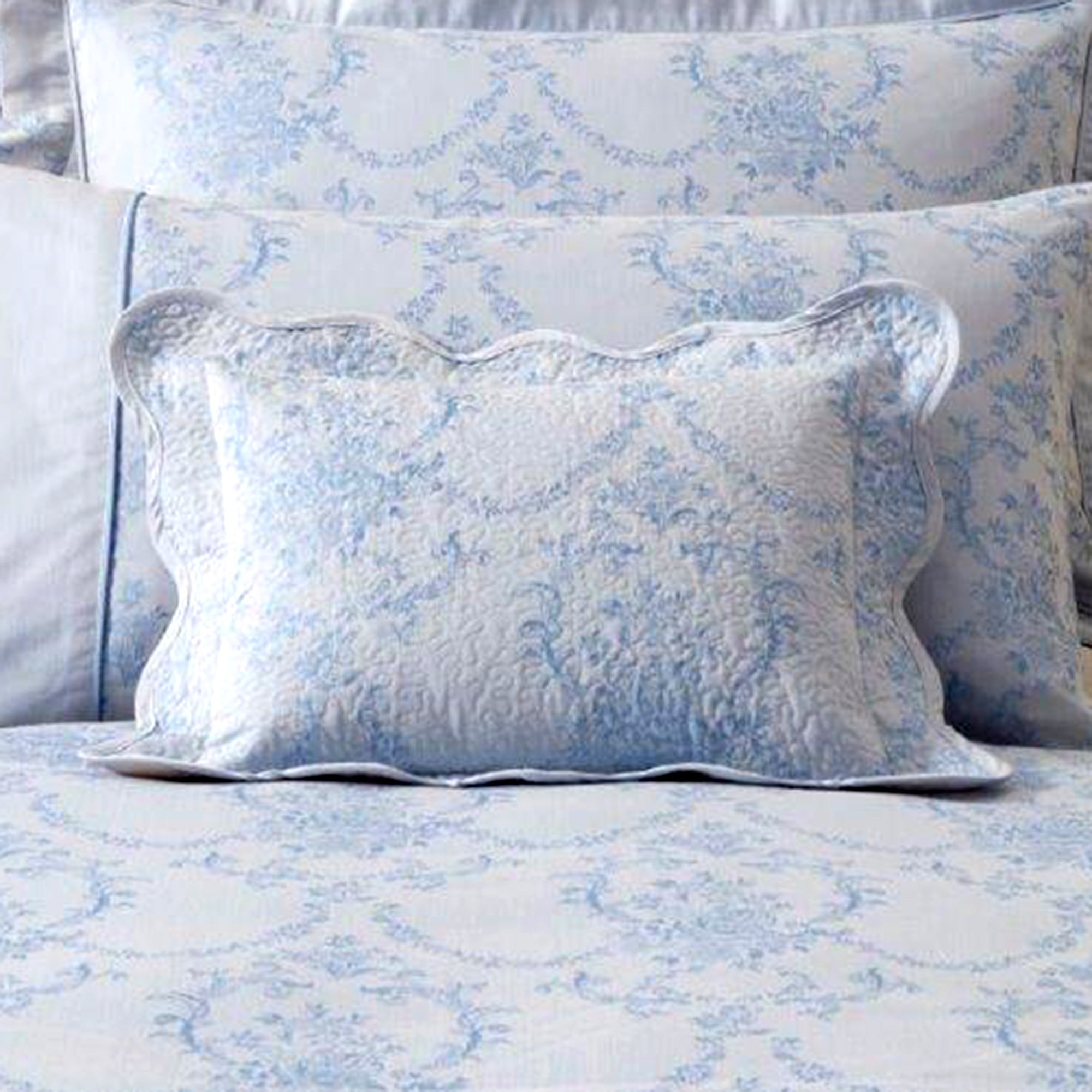 Dorma Blue Chateau Collection Quilted Cushion