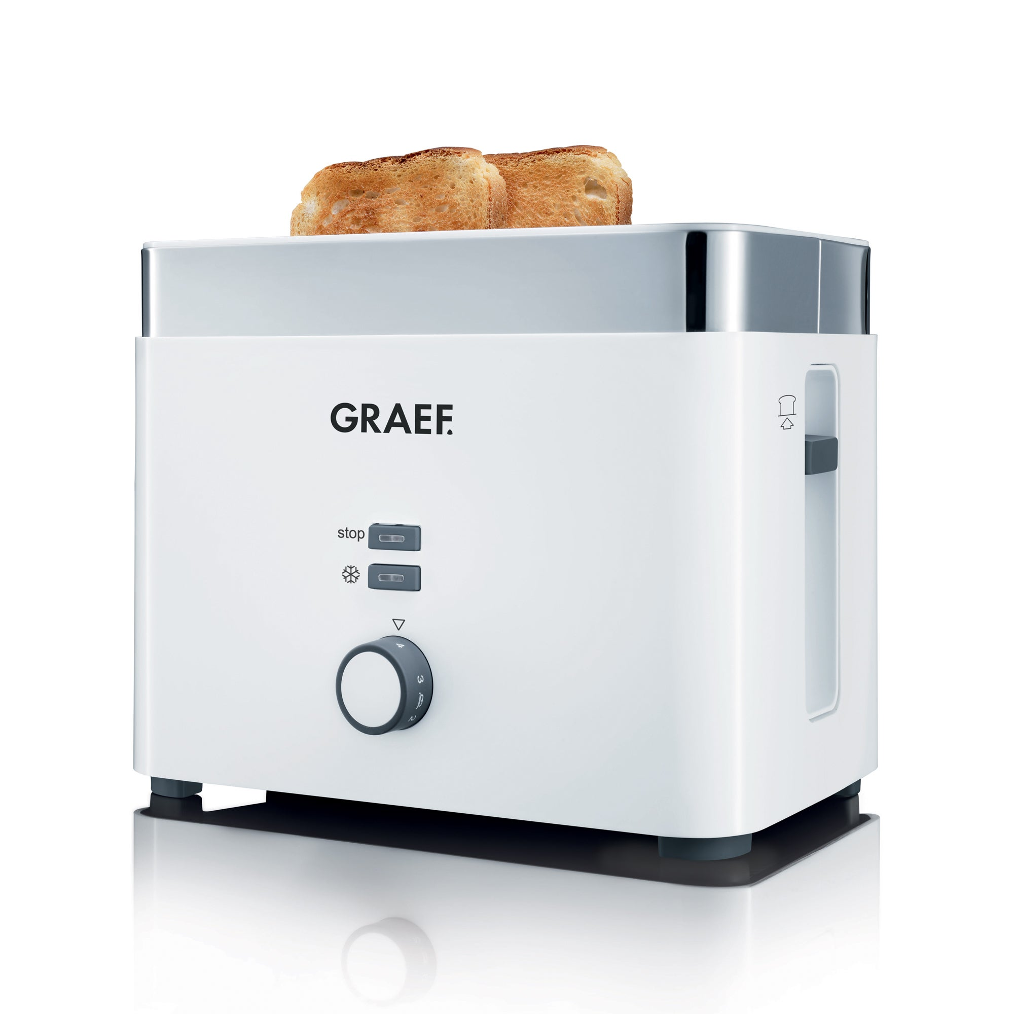 Graef TO61 2 Slice White Toaster