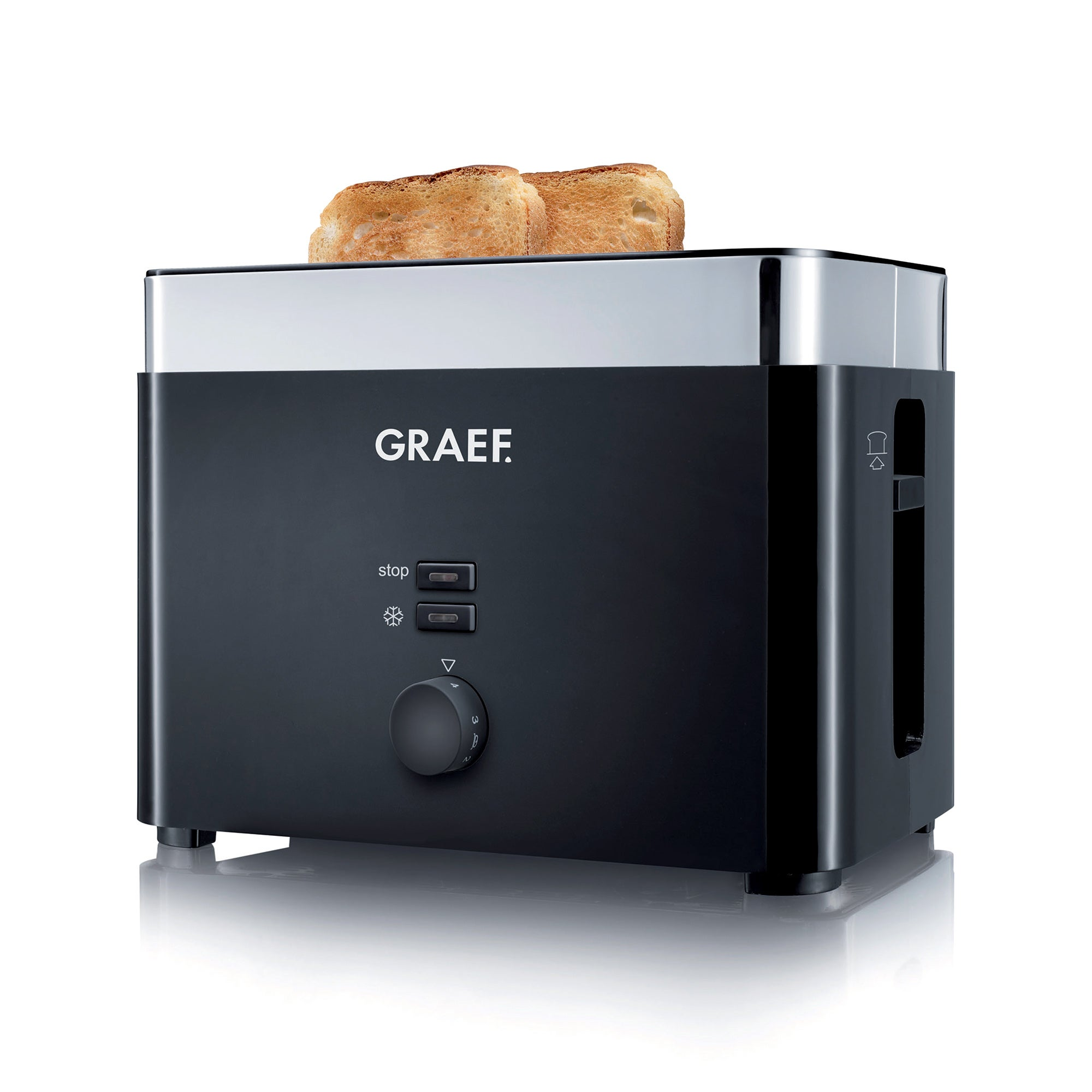 Graef TO62 2 Slice Black Toaster