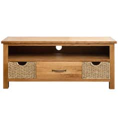 Sidmouth Oak Wide TV Unit