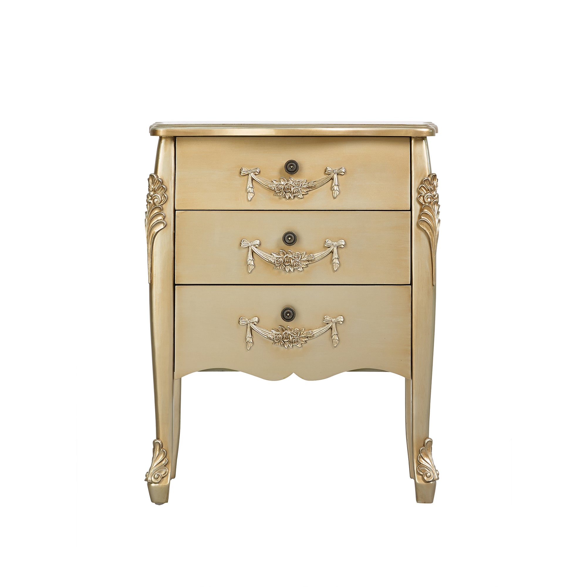 Toulouse Gold 3 Drawer Chest