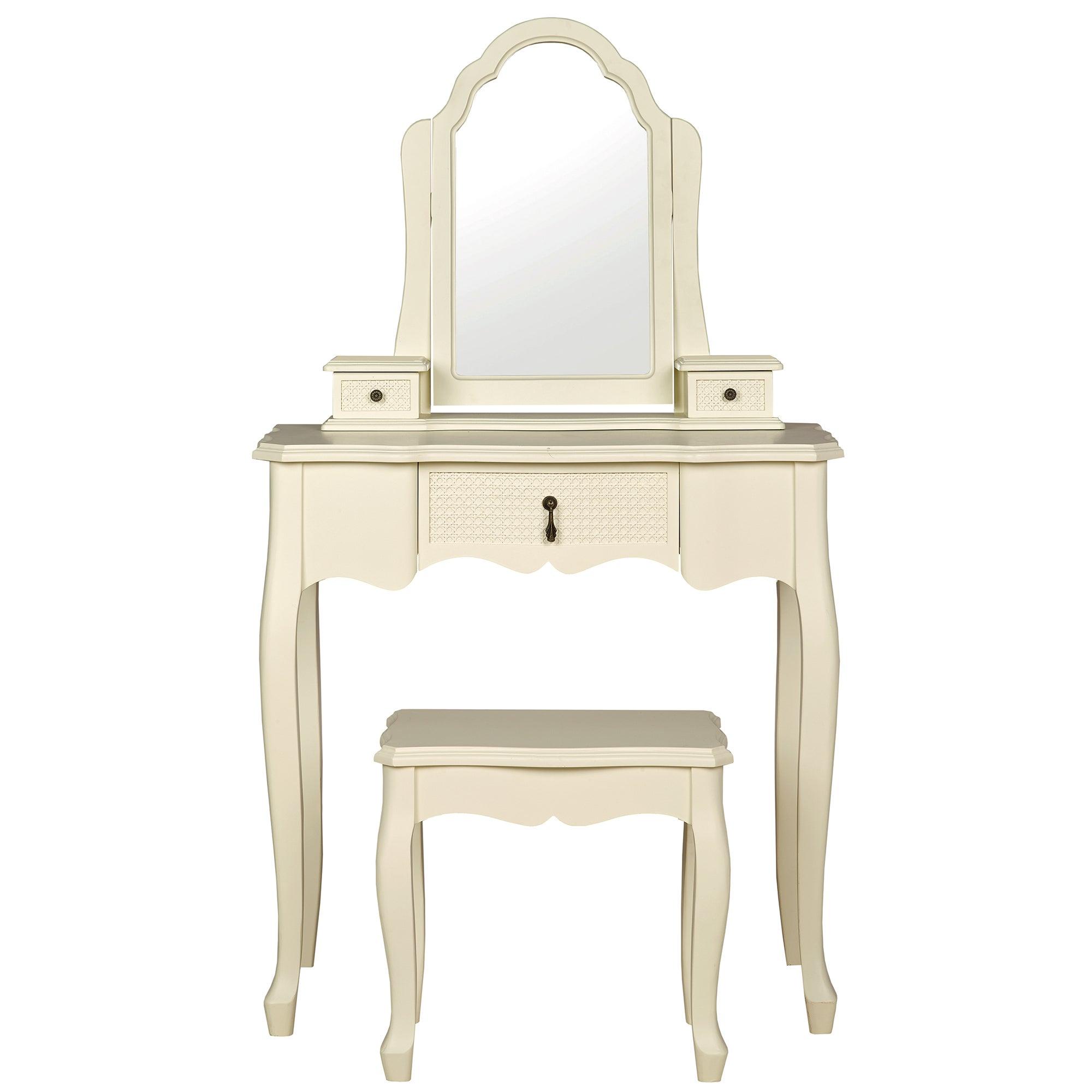 Collette Cream Dressing Table Set