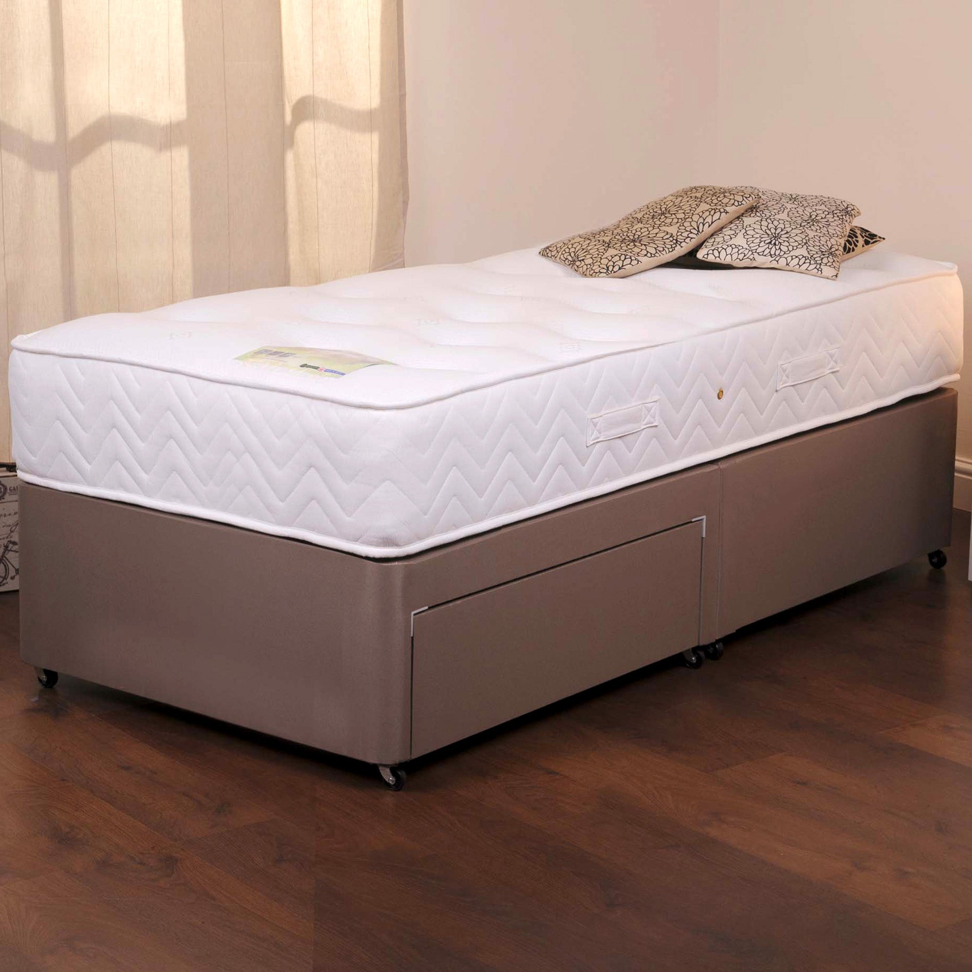 Henley Sprung Edge Divan Set with Two Drawers
