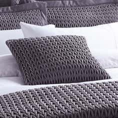 Hotel Charcoal Piccadilly Collection Square Cushion