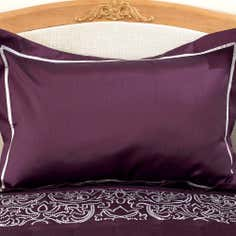 Plum Valencia Collection Oxford Pillowcase