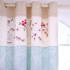 Duck Egg Evelyn Thermal Eyelet Curtain
