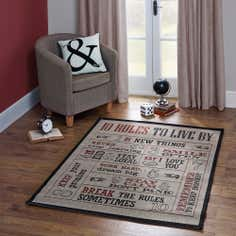 10 Rules To Live By Rug