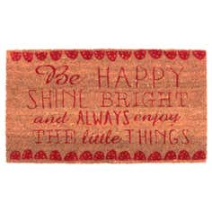 Be Happy Coir Doormat
