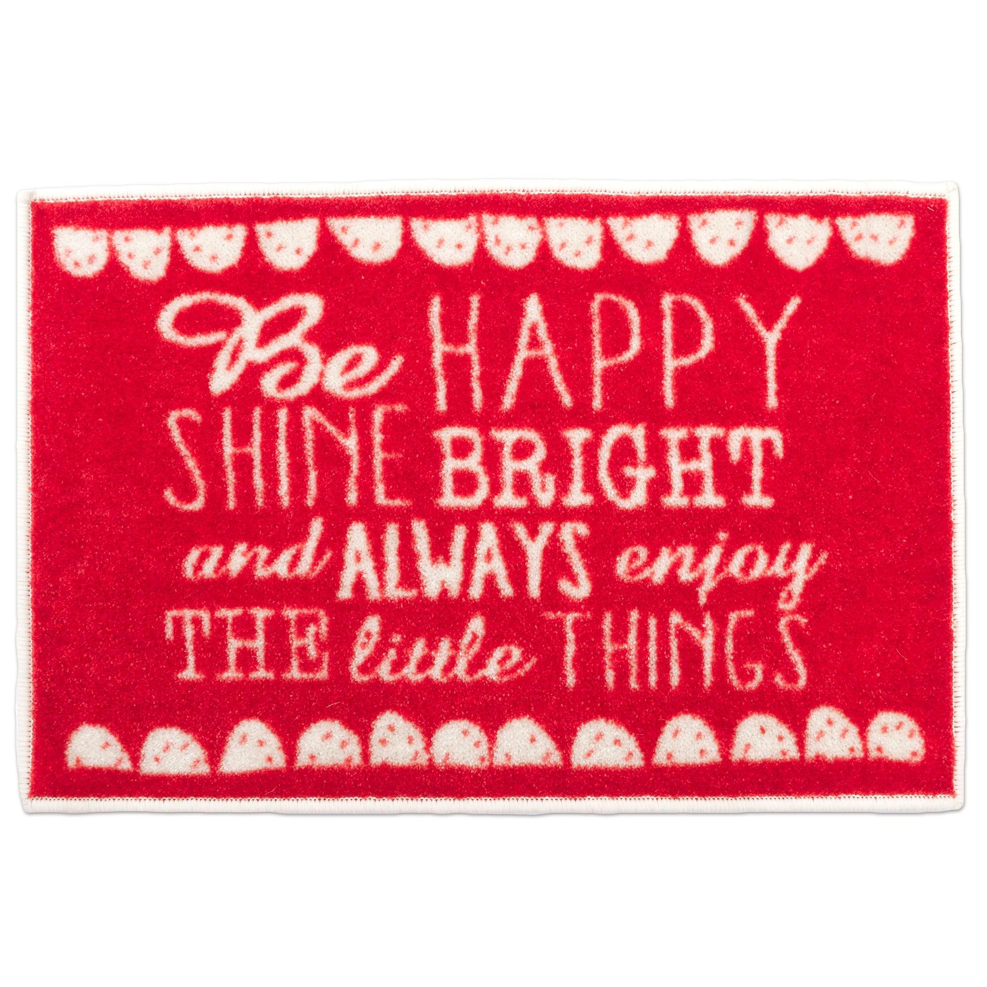 Be Happy Washable Doormat