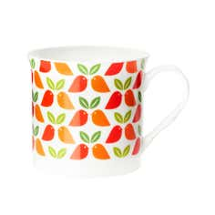 Funky Birds Collection Bird and Leaf Mug