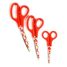Red Funky Birds Collection Pack of 3 Scissors