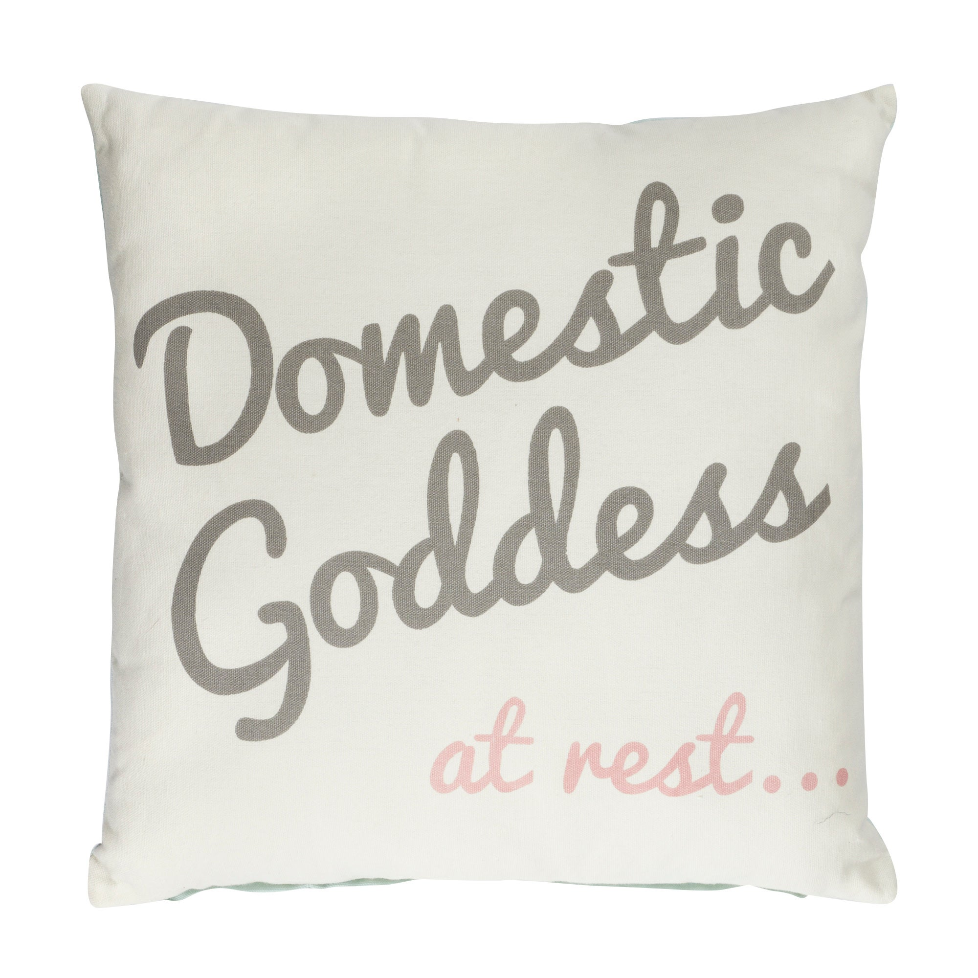 Cream Domestic Goddess Cushion