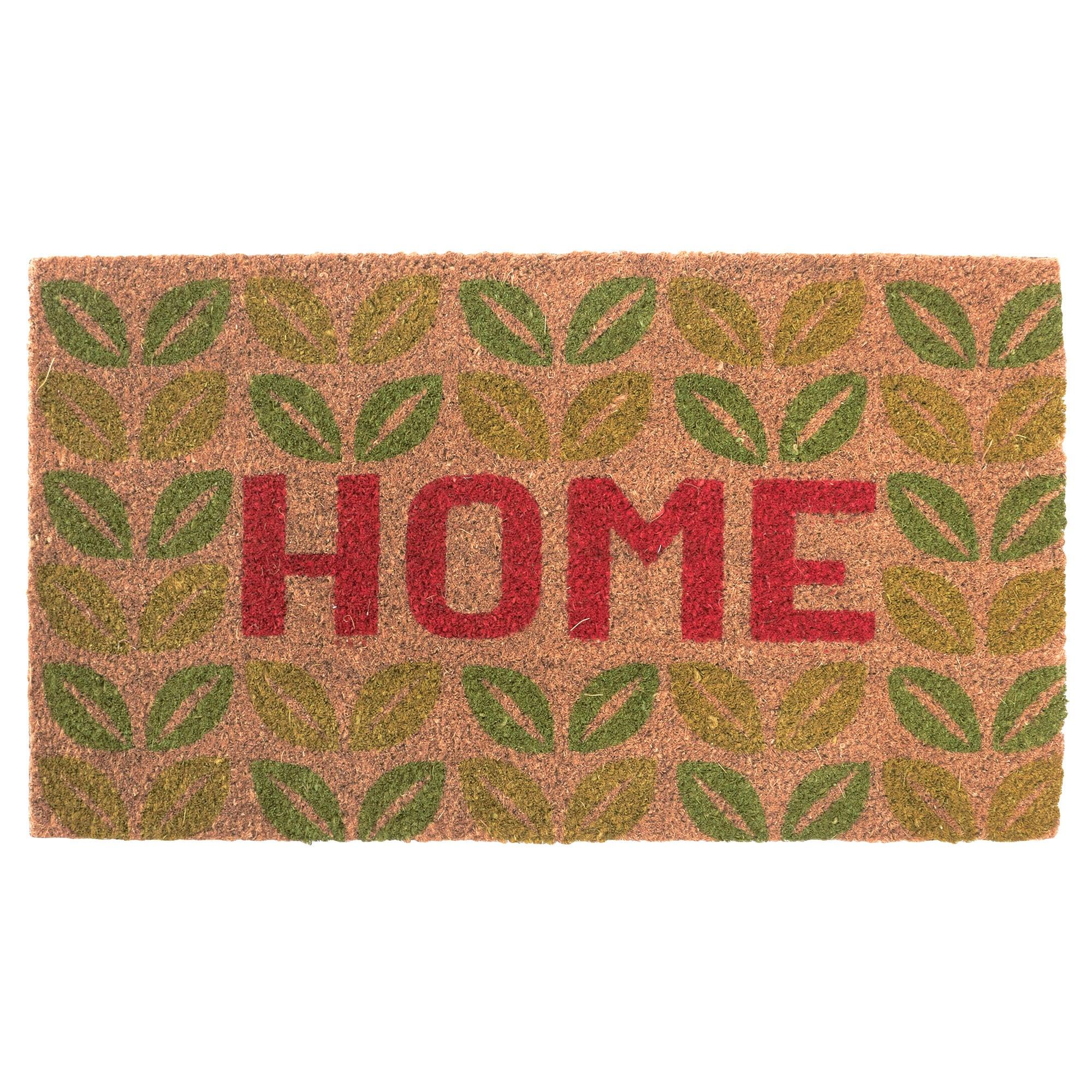 Home Leaves Coir Doormat