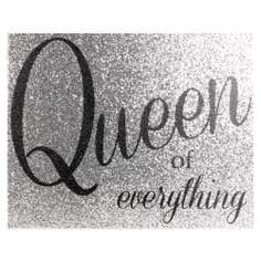 Queen of Everything Collection Glitter Canvas
