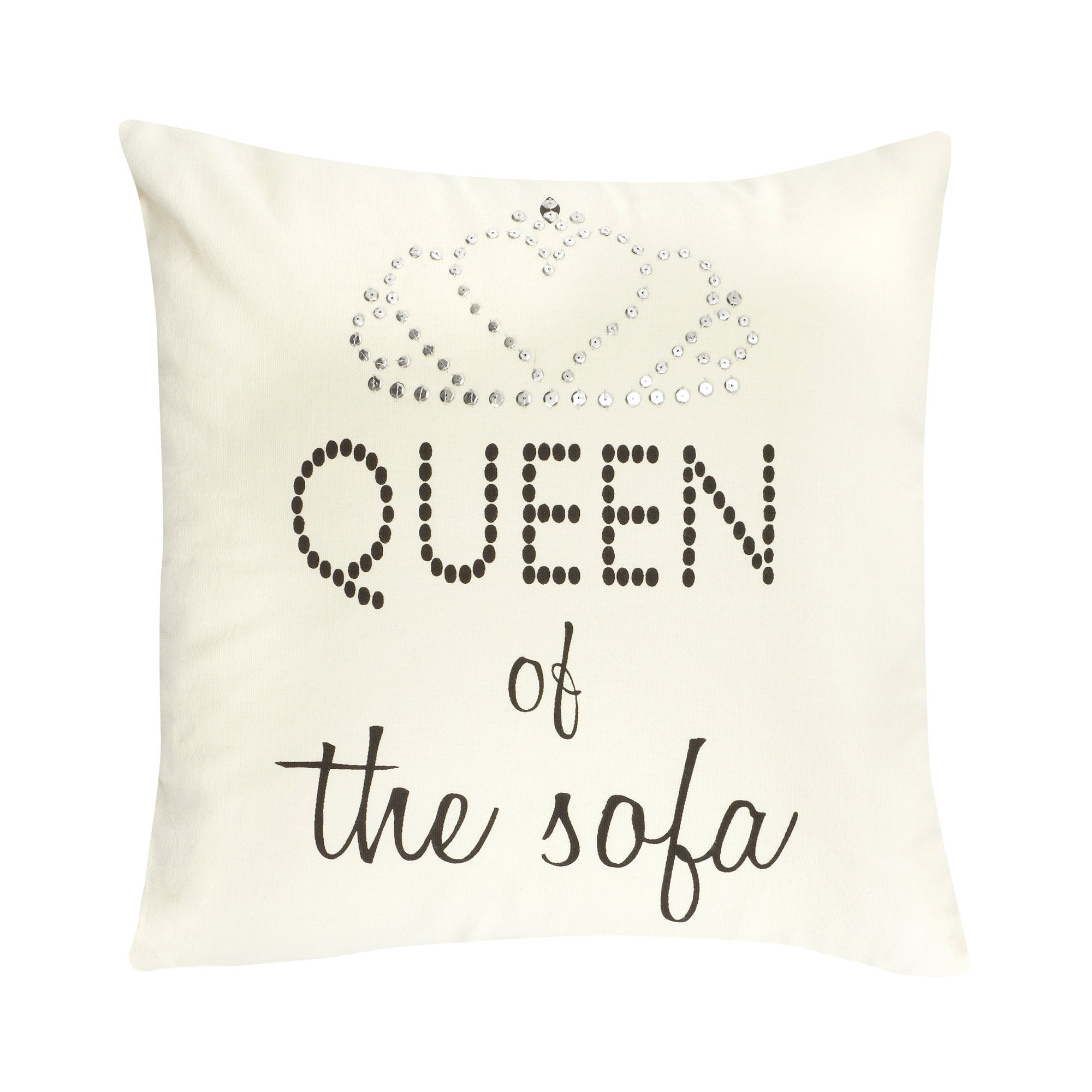 Queen of Everything Collection Square Cushion