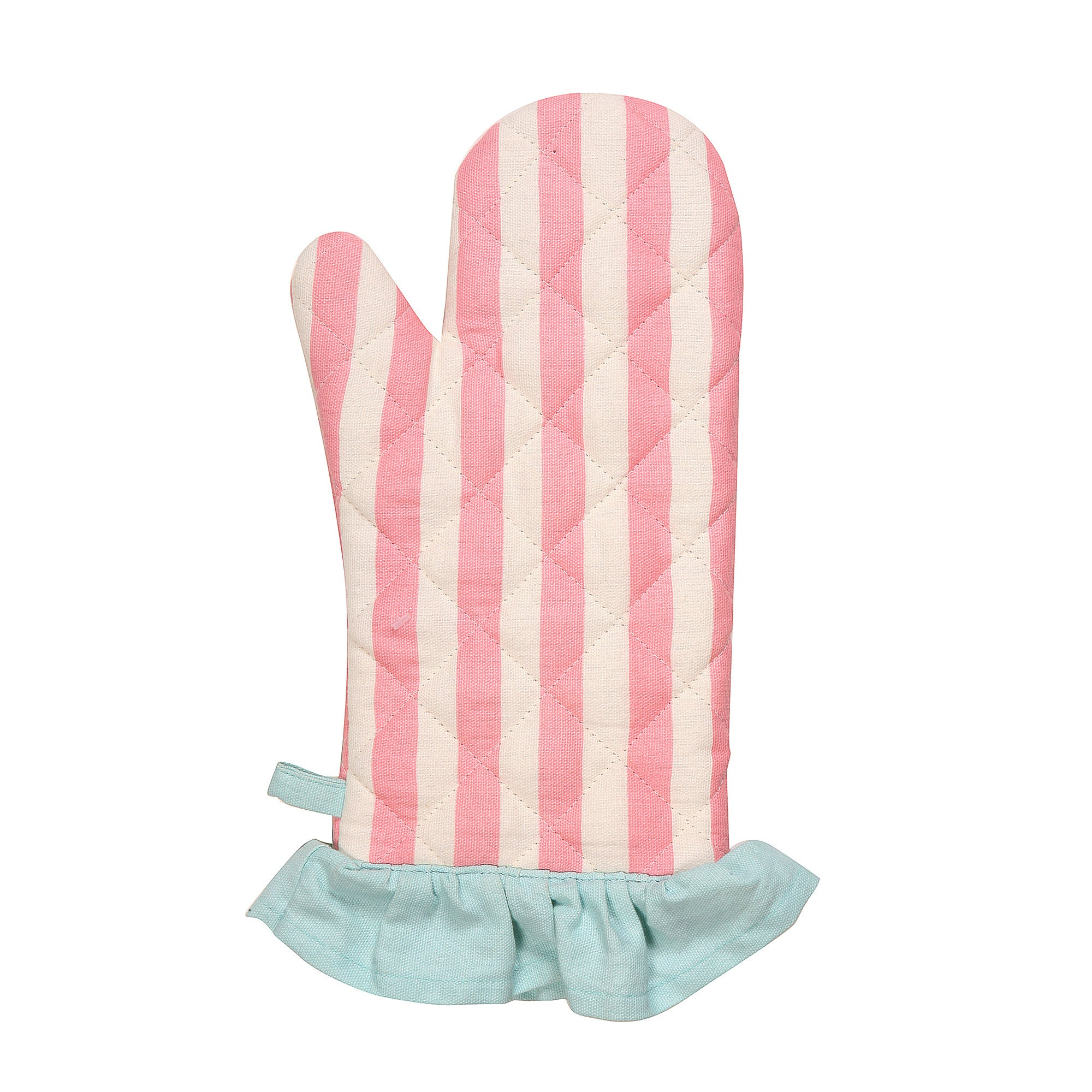Retro Single Oven Glove with Frill