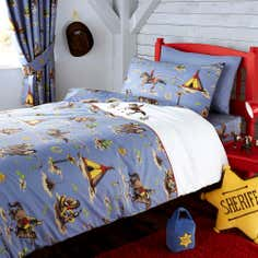 Kids Cowboys and Indians Collection Cot Bed Duvet Set