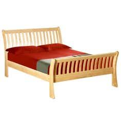 Harrogate Oak Sleigh Kingsize Bed