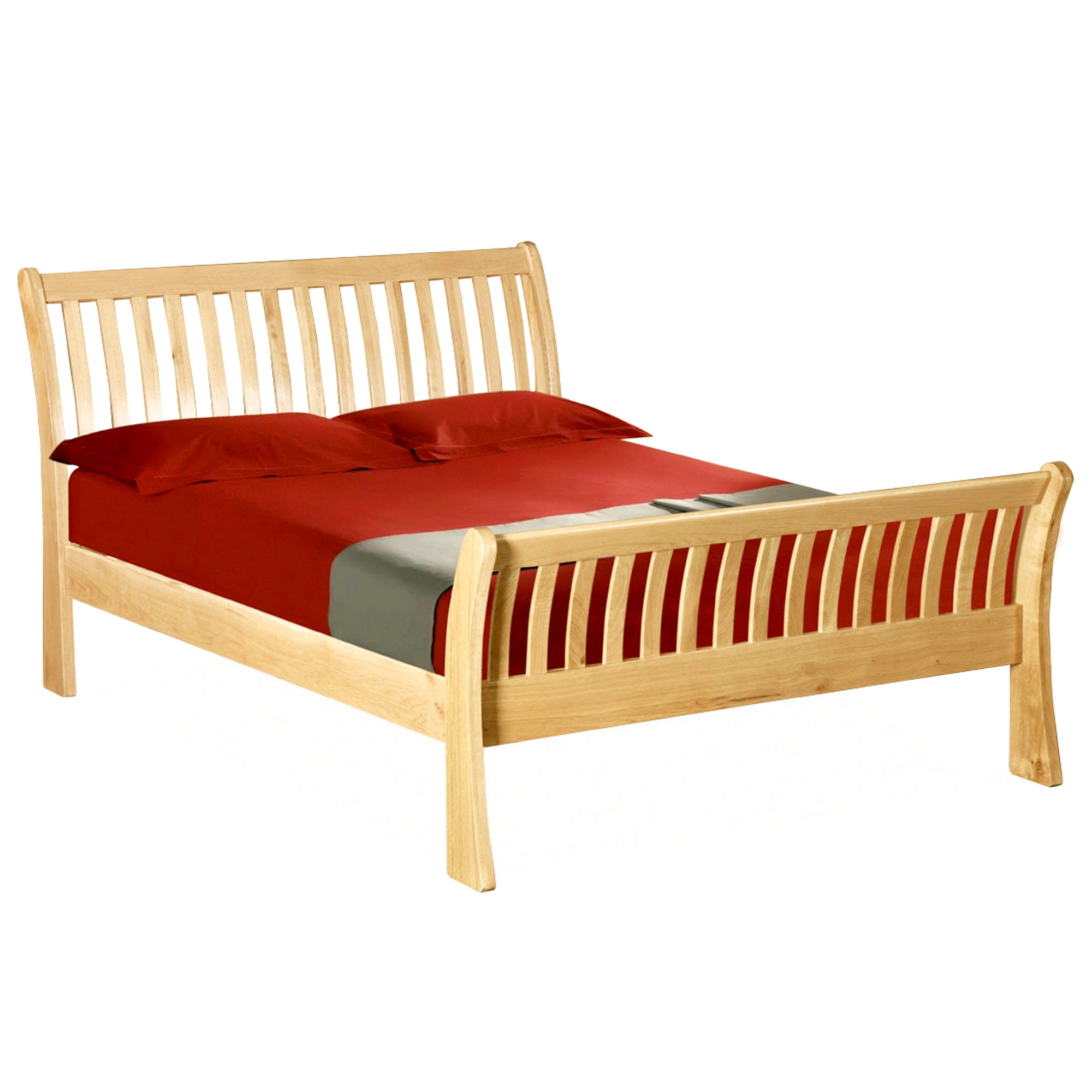 Harrogate Oak Sleigh Kingsize Bed