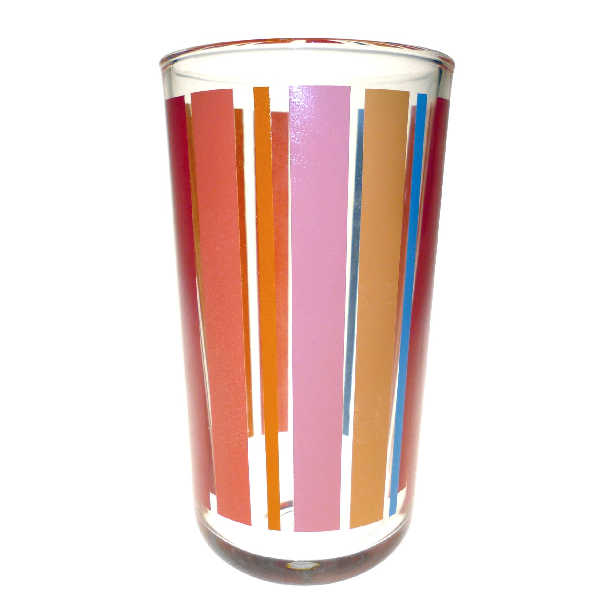 Aster Stripe Collection Glass Hiball