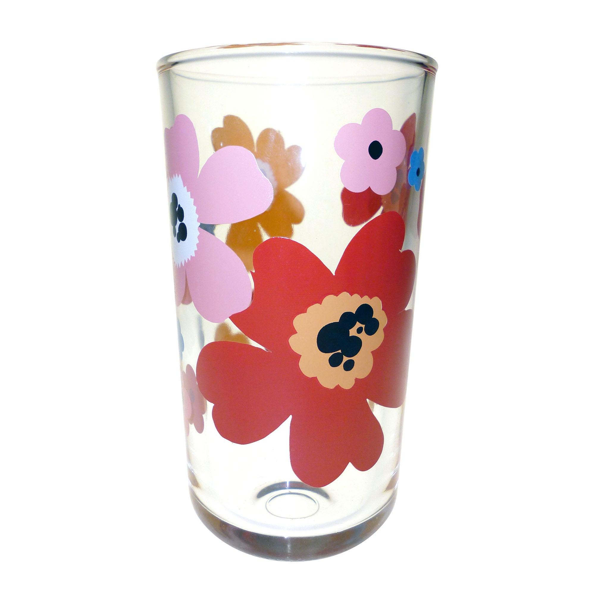 Aster Glass Highball Floral