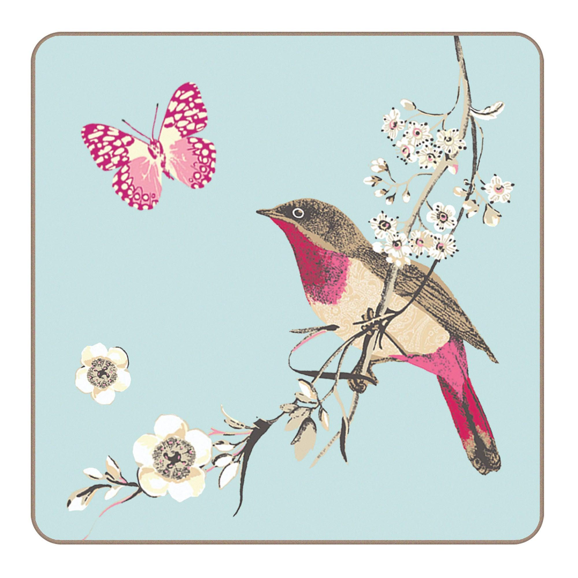 Pack of 4 Beautiful Birds Collection Coasters
