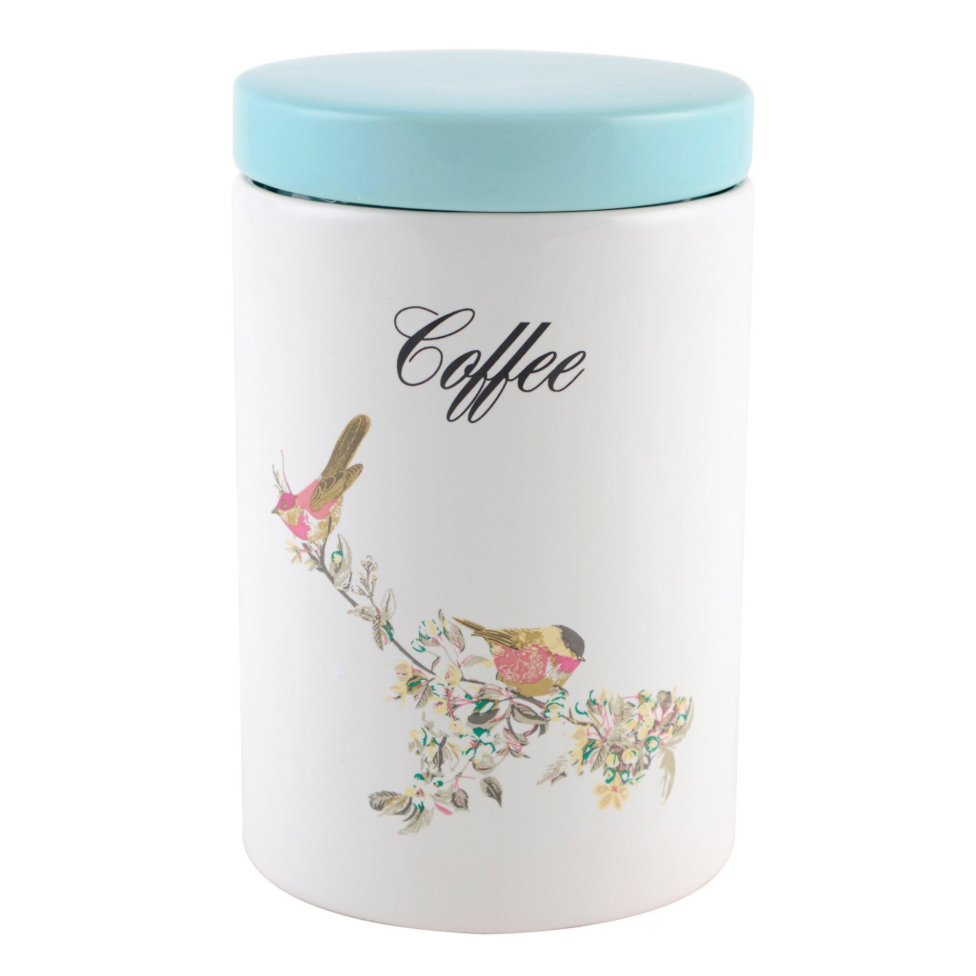 Beautiful Birds Coffee Storage Jar