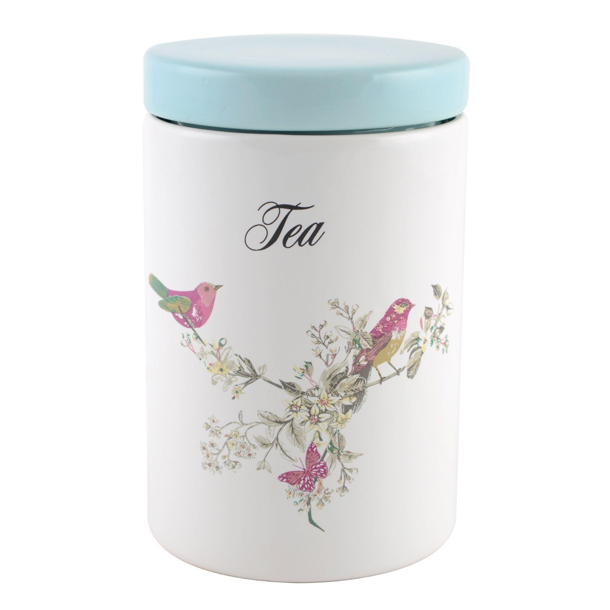 Beautiful Birds Tea Storage Jar