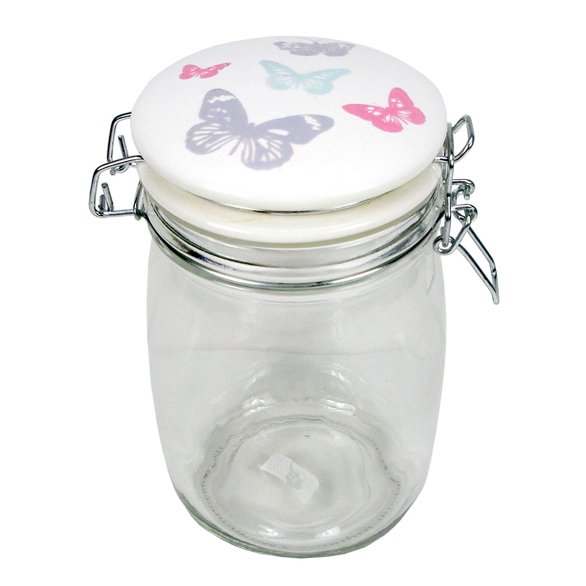 Butterflies Clip Top Jar