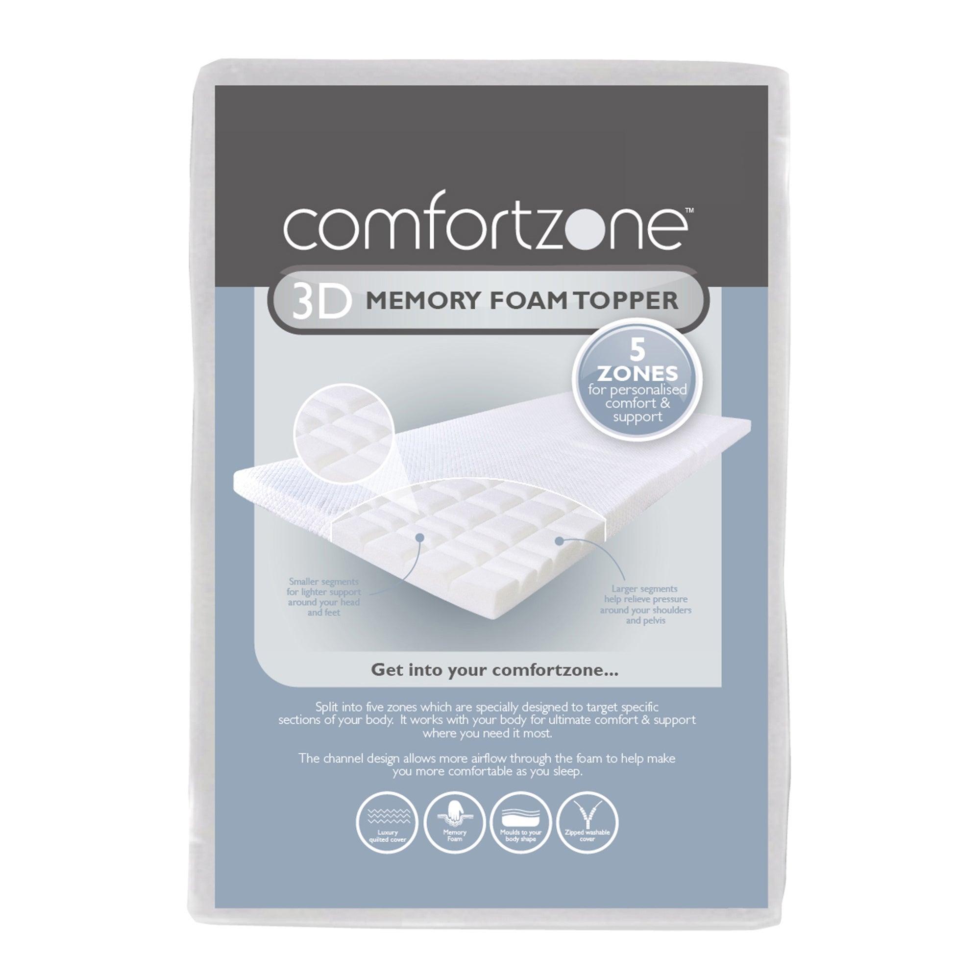 Comfortzone 3D Memory Foam Topper