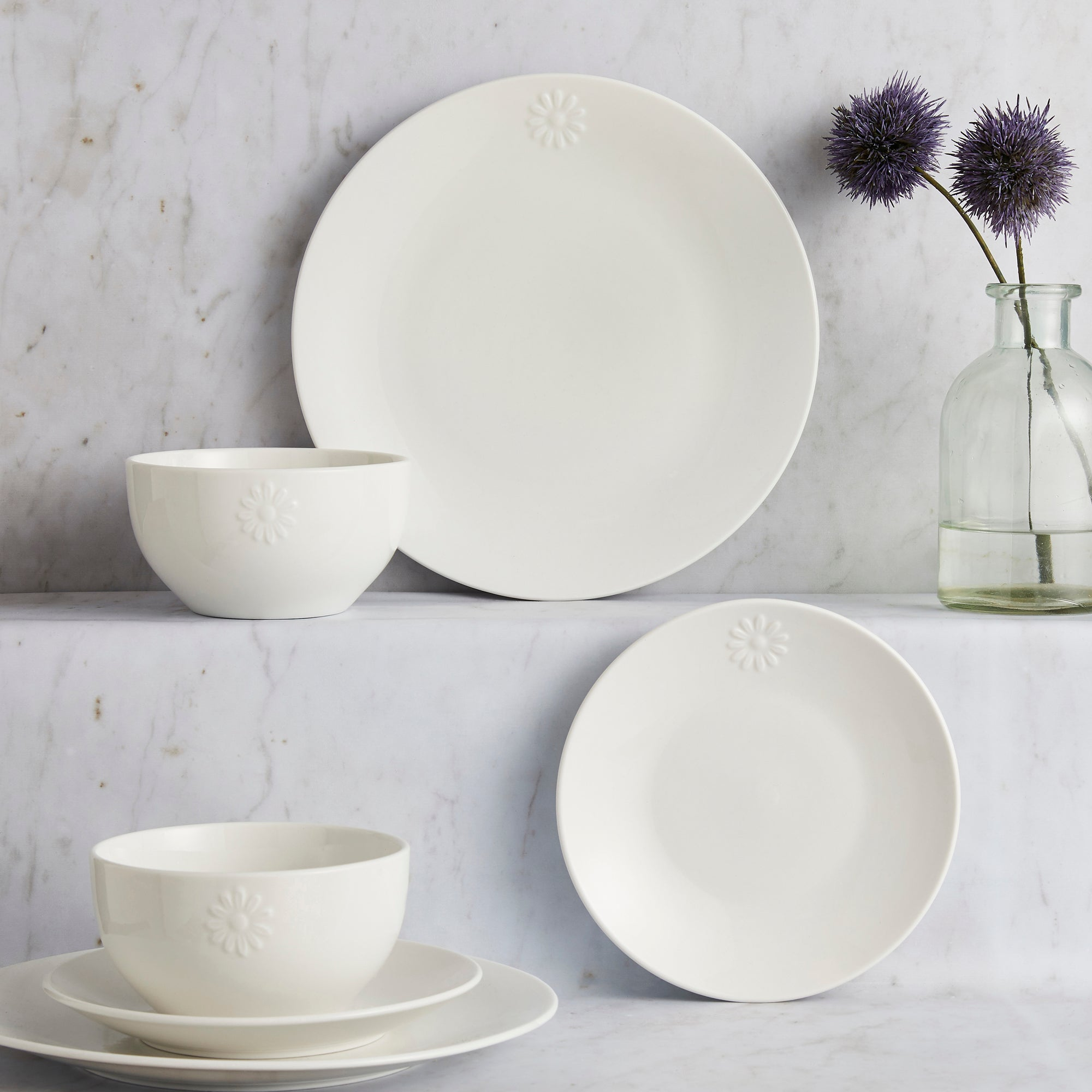 Daisy Collection 12 Piece Dinner Set