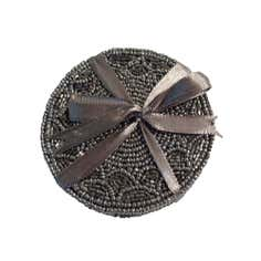 Pack of Four Grey Beaded Coasters