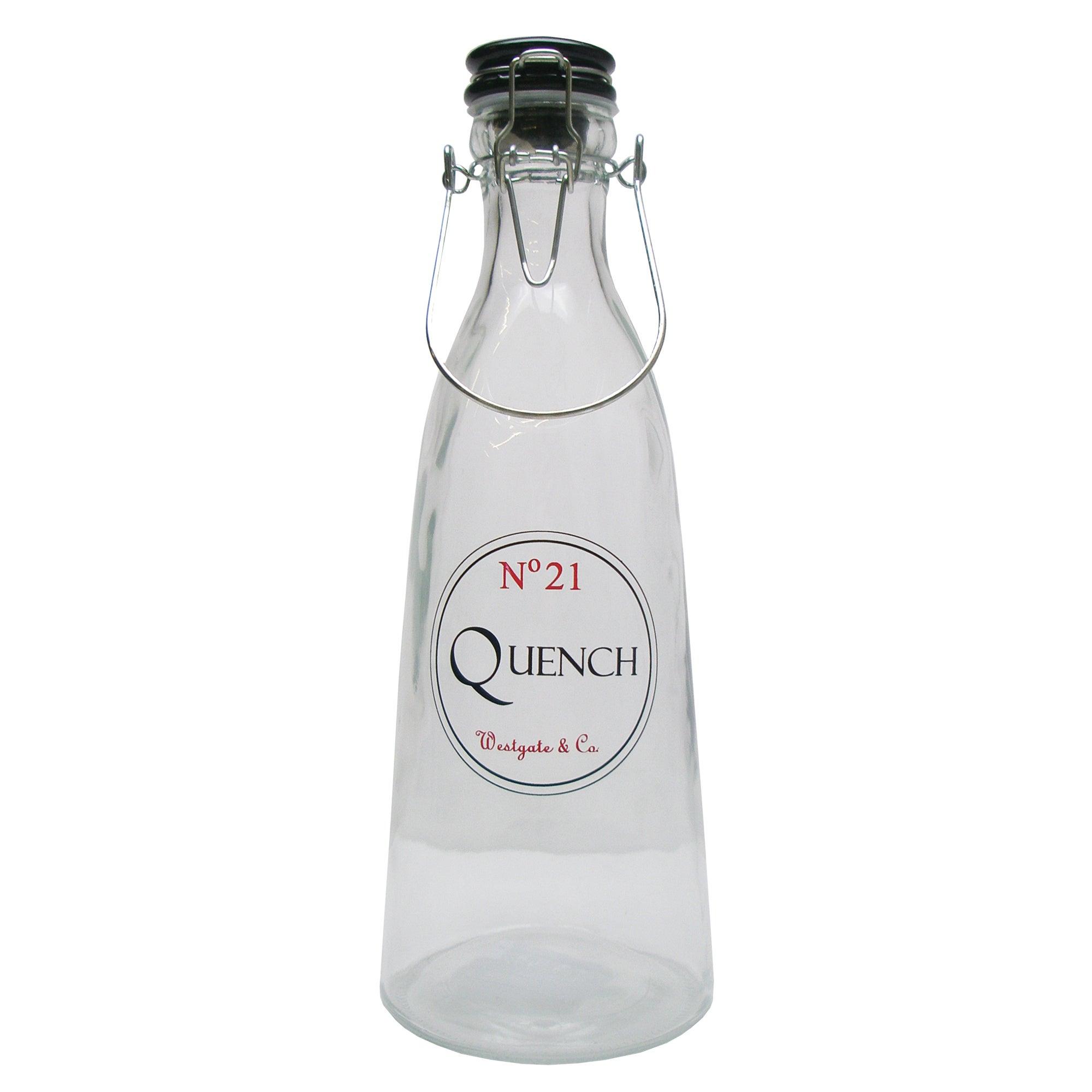 Vintage Tea Sign Glass Bottle