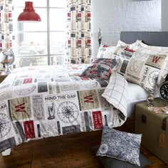 Salvage Ticket Collection Duvet Cover Set