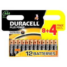 Duracell Plus Power AAA 8 with 4 Free Batteries