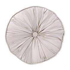 Champagne Velvet Crush Collection Round Cushion