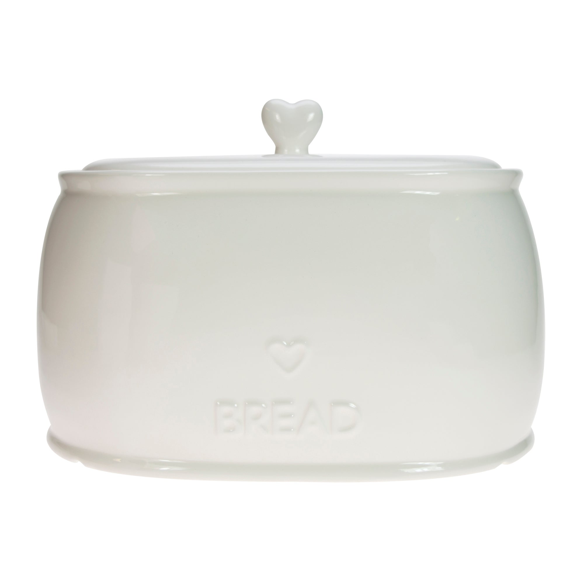 White Country Heart Collection Bread Bin