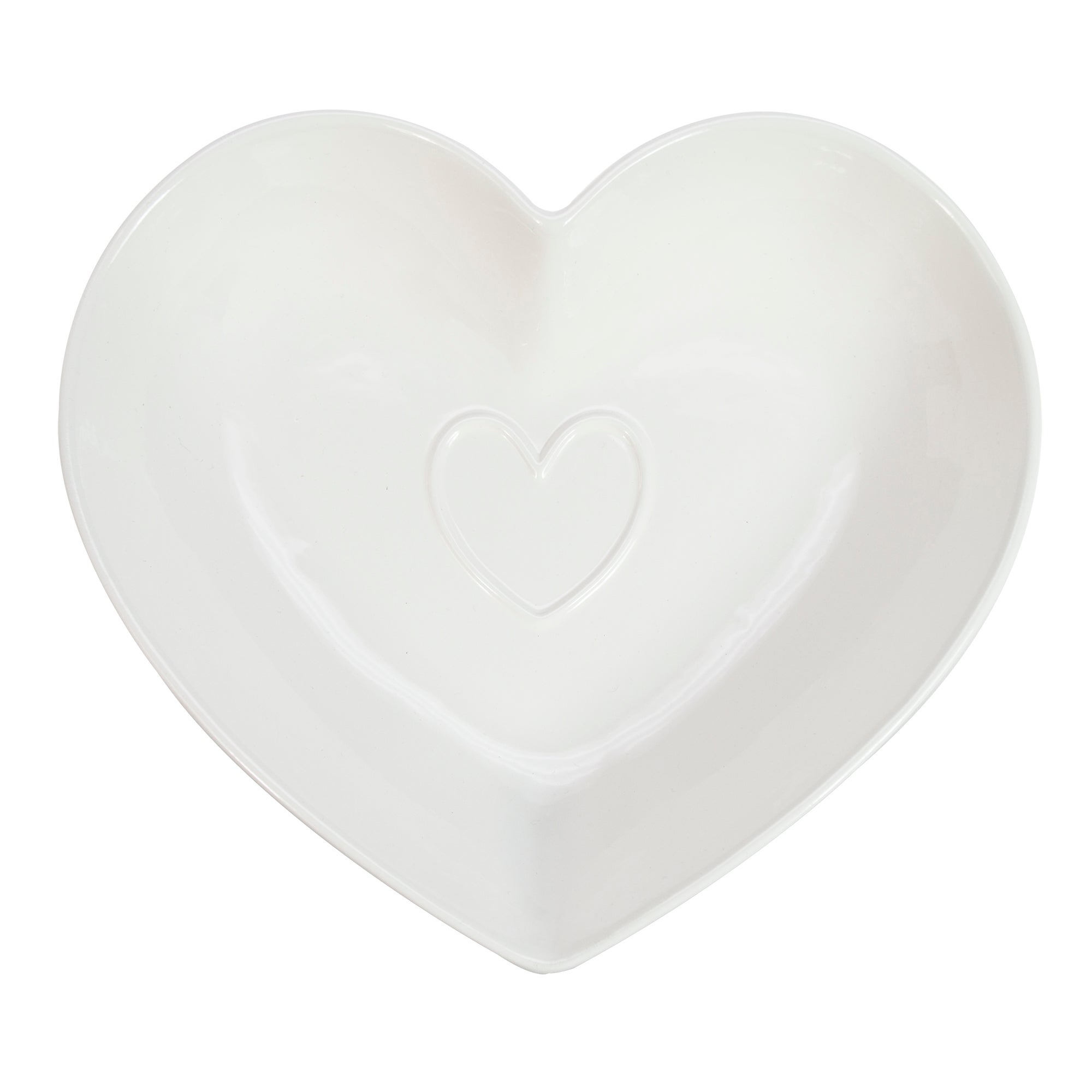 White Country Heart Collection Serving Bowl