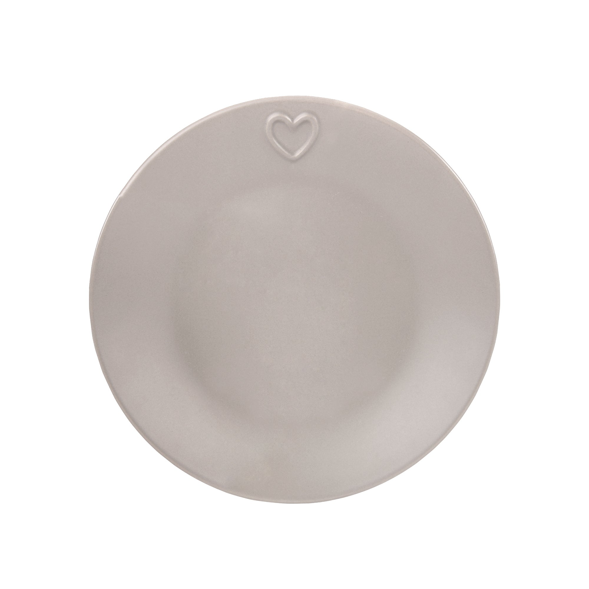 Taupe Country Heart Collection Side Plate